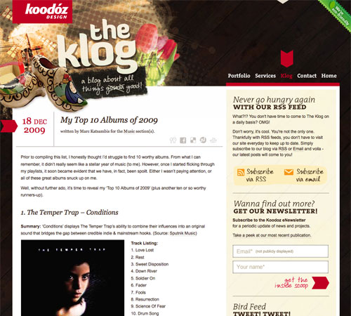 theklog 11 Most Popular Blog Design Styles (With Examples)