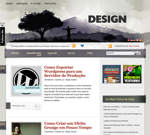 tendenciasdodesign 11 Most Popular Blog Design Styles (With Examples)