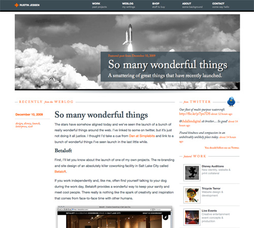 rustinjessen 11 Most Popular Blog Design Styles (With Examples)