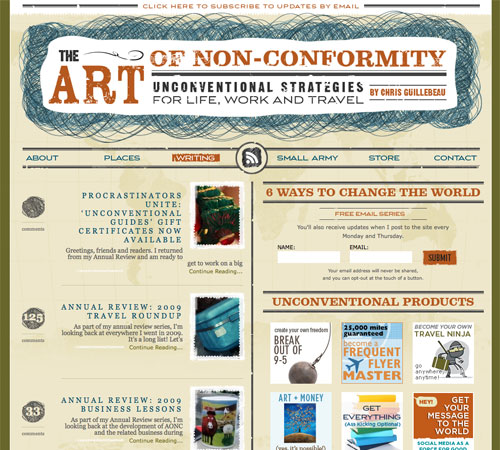 artofnonconformity 11 Most Popular Blog Design Styles (With Examples)