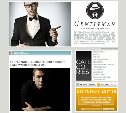 dergentleman 11 Most Popular Blog Design Styles (With Examples)