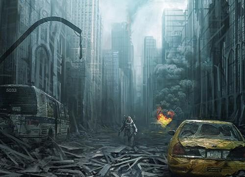 grafika i dizayn  Обои для рабочего стола: постапокалиптика