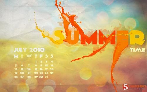 Summertime1 in Desktop Wallpaper Calendar: July 2010