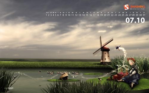 Stream-of-andersen in Desktop Wallpaper Calendar: July 2010