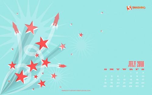 Fireworks So Loud It Hurts in Desktop Wallpaper Calendar: July 2010