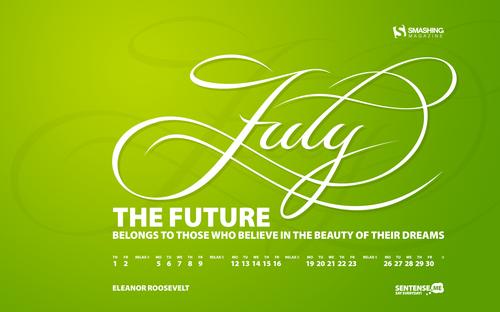 July-sentense in Desktop Wallpaper Calendar: July 2010