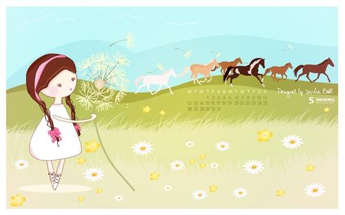 Summer-days in Desktop Wallpaper Calendar: July 2010