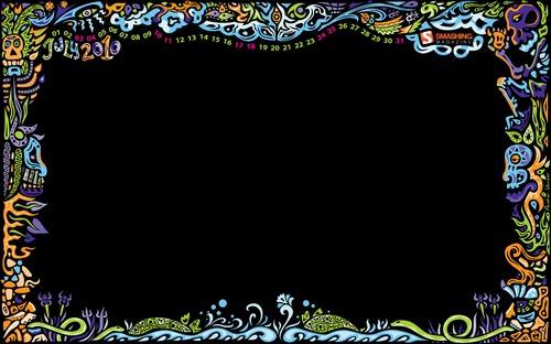 Night in Desktop Wallpaper Calendar: July 2010