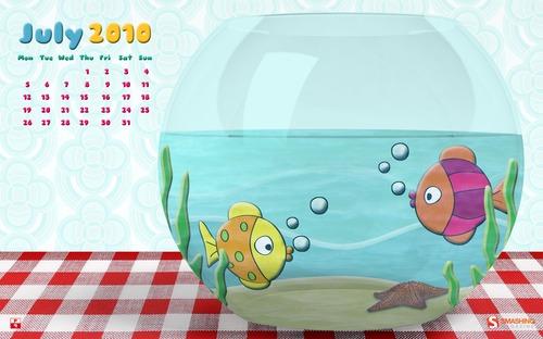 Fishybusiness in Desktop Wallpaper Calendar: July 2010