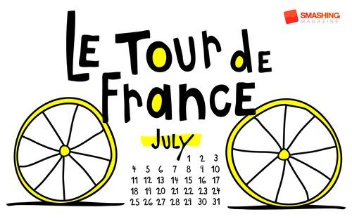 Letour in Desktop Wallpaper Calendar: July 2010