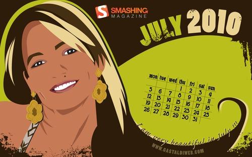 Beautiful-in-july in Desktop Wallpaper Calendar: July 2010
