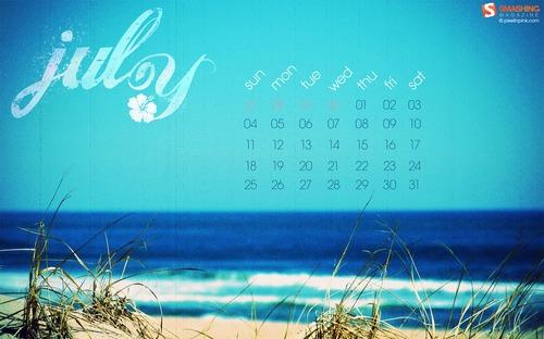 Summer-at-the-shore in Desktop Wallpaper Calendar: July 2010