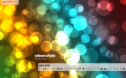 Colours-of-july in Desktop Wallpaper Calendar: July 2010