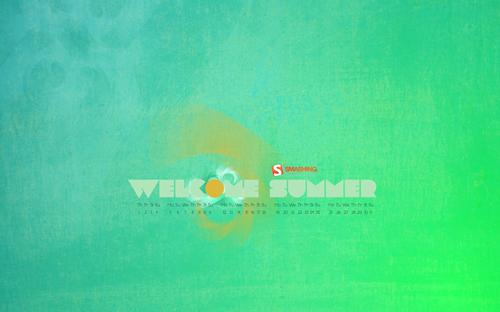 Wel-sum in Desktop Wallpaper Calendar: July 2010