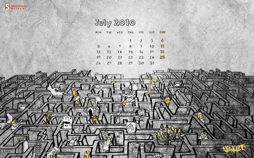 Symbian-world in Desktop Wallpaper Calendar: July 2010
