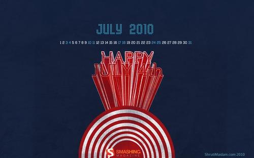 Celebrating-july-4th in Desktop Wallpaper Calendar: July 2010