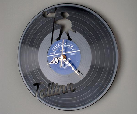 Record Wall Clock
