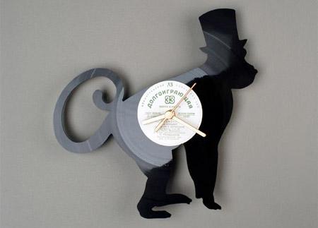 grafika i dizayn  Часы из из виниловых пластинок