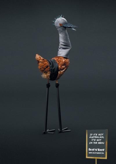 grafika i dizayn  Реклама ресторана Reef n Beef