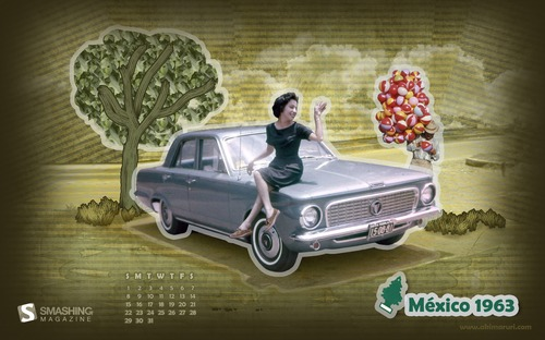 Mexico-1963 1 in  Desktop Wallpaper Calendar: August 2010