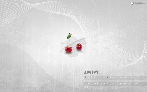 Cherry in  Desktop Wallpaper Calendar: August 2010