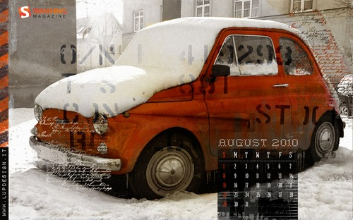 Climate-change in  Desktop Wallpaper Calendar: August 2010