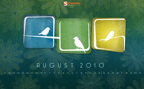 Aves-lacuna in  Desktop Wallpaper Calendar: August 2010