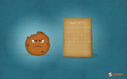 One-mad-cookie in  Desktop Wallpaper Calendar: August 2010