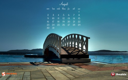 Over-the-bridge in  Desktop Wallpaper Calendar: August 2010