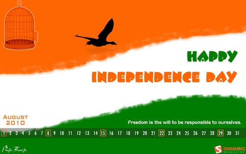 Freedom2 in  Desktop Wallpaper Calendar: August 2010
