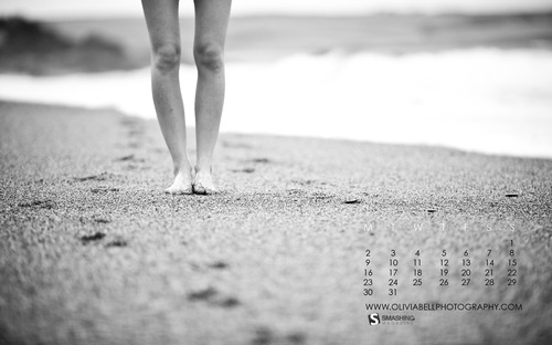 Sand-between-my-toes in  Desktop Wallpaper Calendar: August 2010