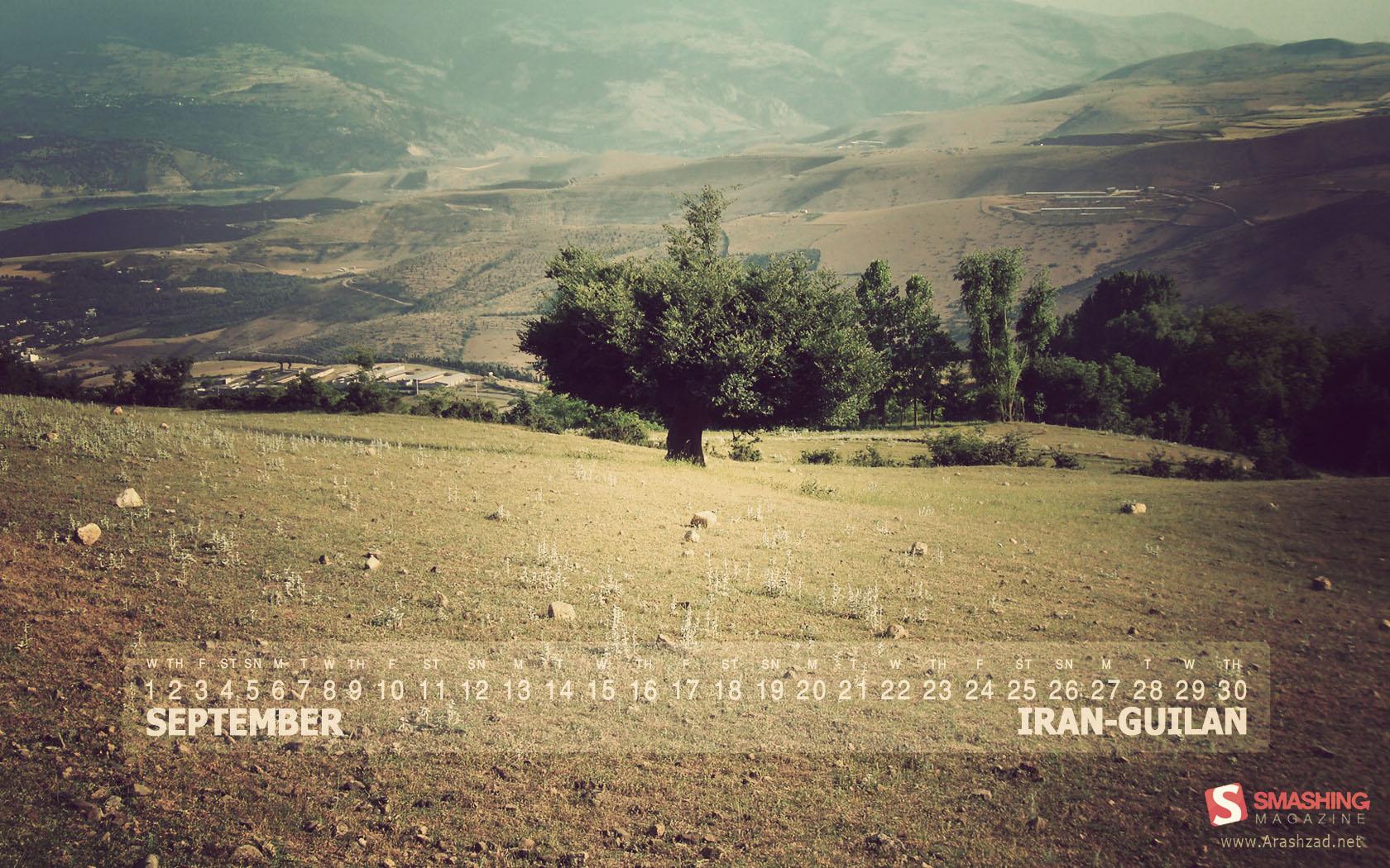 Iran-guilan in Desktop Wallpaper Calendar: September 2010