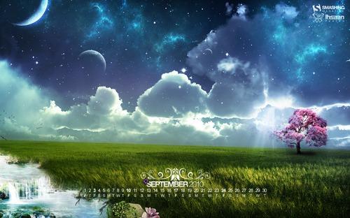 Summers End in Desktop Wallpaper Calendar: September 2010