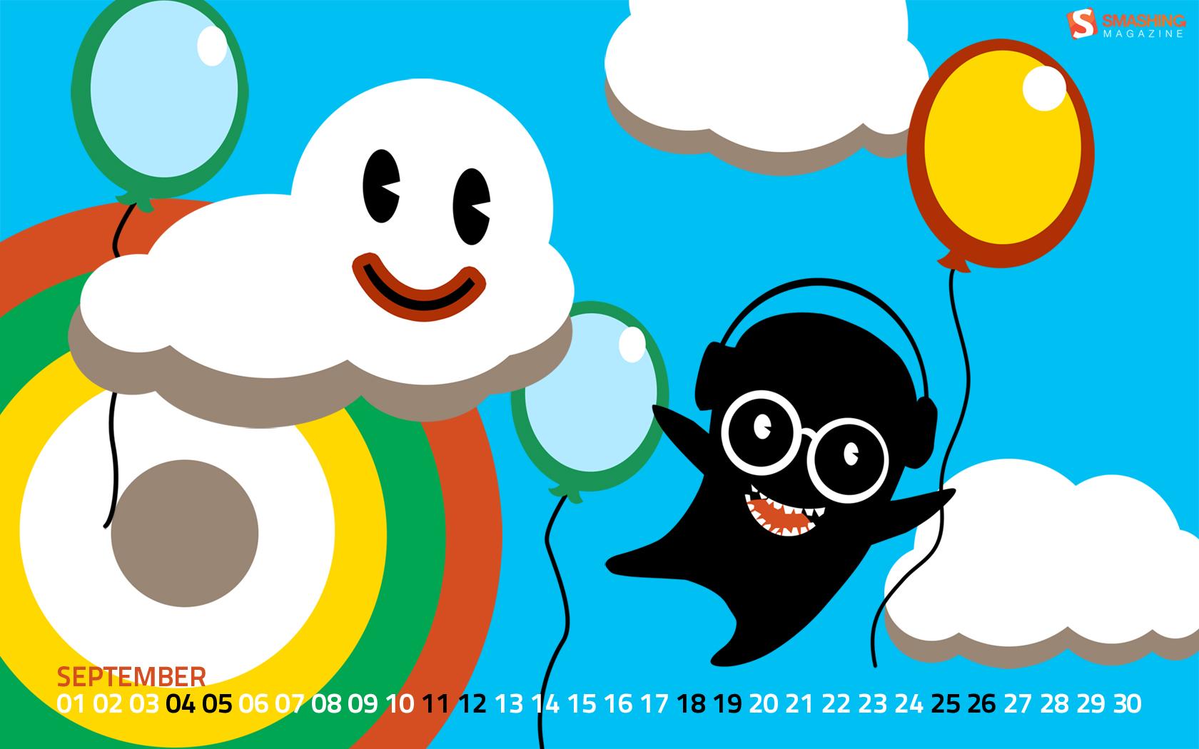 Happy-place in Desktop Wallpaper Calendar: September 2010