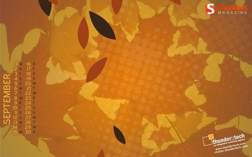 Hues-of-autumn in Desktop Wallpaper Calendar: September 2010