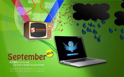 Time To Design in Desktop Wallpaper Calendar: September 2010