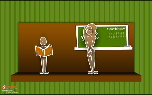 Back-to-school 1 in Desktop Wallpaper Calendar: September 2010
