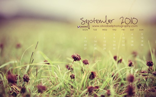 Ending-of-summer in Desktop Wallpaper Calendar: September 2010