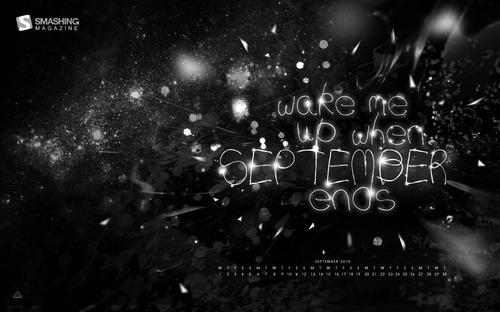 Wake-me-up 1 in Desktop Wallpaper Calendar: September 2010