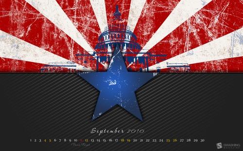 Star in Desktop Wallpaper Calendar: September 2010