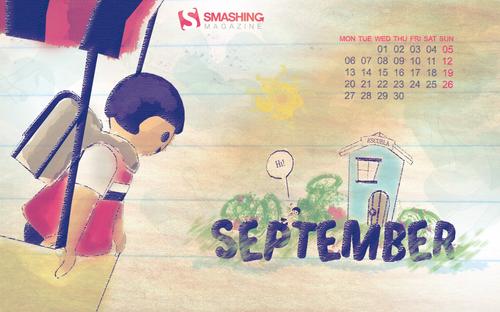 Back-to-school in Desktop Wallpaper Calendar: September 2010