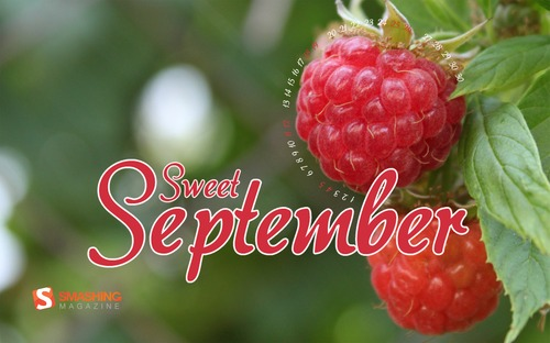 Sweet-september in Desktop Wallpaper Calendar: September 2010