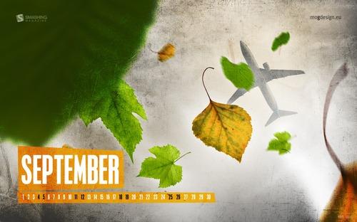 Autumn-skyview in Desktop Wallpaper Calendar: September 2010