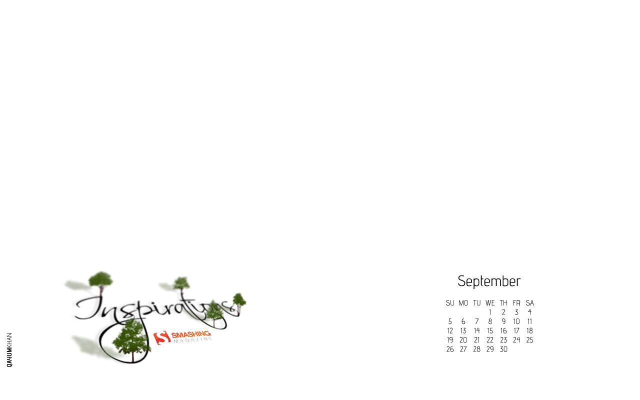 Inspirations in Desktop Wallpaper Calendar: September 2010