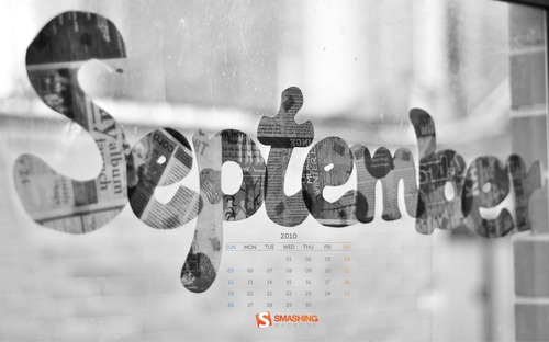 Through-the-window in Desktop Wallpaper Calendar: September 2010