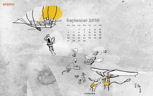 Symbian-world in Desktop Wallpaper Calendar: September 2010