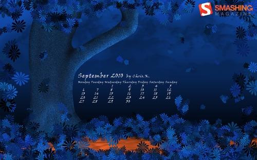 Summers-end in Desktop Wallpaper Calendar: September 2010