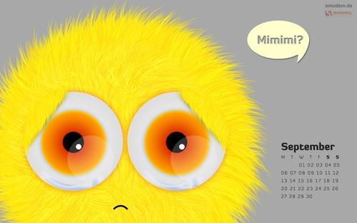 Mimimi in Desktop Wallpaper Calendar: September 2010