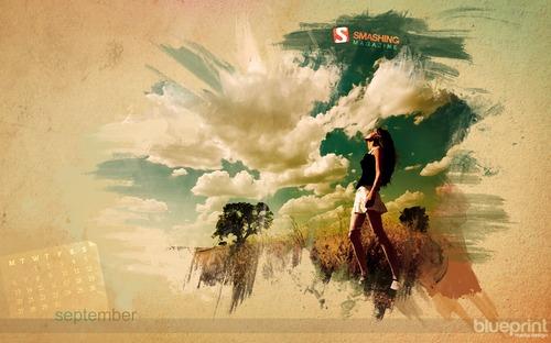 Melancholic-painting in Desktop Wallpaper Calendar: September 2010