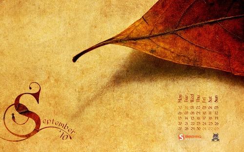 Autumn-paper in Desktop Wallpaper Calendar: September 2010